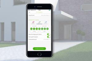 Mit der intuitiv bedienbaren Schüco BlueCon App (Android oder iOS) sind individuelle Zutrittsberechtigungen zum Gebäude sicher und komfortabel möglich