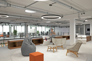 Flexible Möblierung für flexibles Arbeiten am Beispiel der Allianz Global Digital Factory (© Entwurf und Planung conceptsued gmbh, UN Studio)