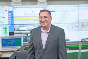 Karl Rubsch, Leiter Leitwarte Technik am Flughafen München ist mit der neuen Lösung mehr als zufrieden