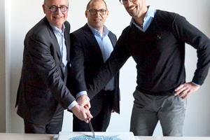 Pierre Guelen, Stephan Mau und  Frank Bögel sind davon überzeugt, dass die Einbindung von conjectFM in eine Unternehmensgruppe wie Planon Kunden und Mitarbeitern zugute kommen wird