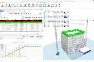 Mit Hilfe von 4D- und 5D-Simulationen können Prozessabläufe auf der Baustelle im Vorfeld visualisiert und optimiert werden