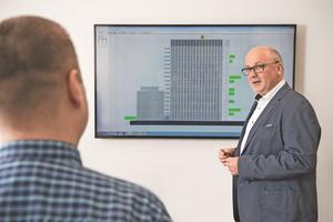 Die digital vernetzte Lichtlösung in den Konferenzräumen des Towers gibt der THA Immo Verwaltungs GmbH neue Einblicke in die Raumauslastung und -nutzung