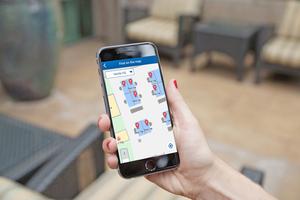 Kunden können sogar noch weiter vom ZGS Service- und Software-Know-how profitieren: z.B. über eine eigene App, die mit dem Dashboard verbunden ist. So können Mitarbeiter Kollegen finden und freie Arbeitsplätze oder Besprechungsräume in ihrer Nähe lokalisieren
