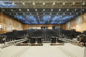 Einer der Veranstaltungssäle des RheinMain CongressCenters Wiesbaden. Der größte dieser Säle fasst bis zu 9000 Personen