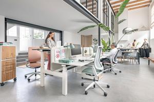 Eine »Multispace« Arbeitsumgebung lässt sich nicht eindeutig nur über eine Büroform beschreiben. Sie ist eine Mischstruktur bei der mehrere Büroformen kombiniert sind und den Nutzern parallel zur Verfügung stehen