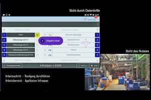 Die eigens entwickelte App für die Datenbrille funktioniert per Sprachsteuerung