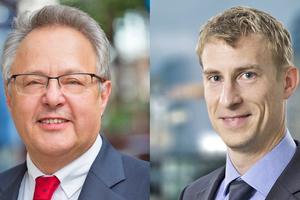 Otto Kajetan Weixler (links) wechselt in den Aufsichtsrat – Robin Petersen (rechts) übernimmt als Mitglied im Management Board von Apleona die Verantwortung für das FM-Geschäft in der DACH-Region