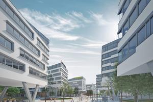 Zukunftsweisend: Der Austria Campus ist als Stadt in der Stadt konzipiert und soll so sämtlichen Ansprüchen ans neue Arbeiten genügen