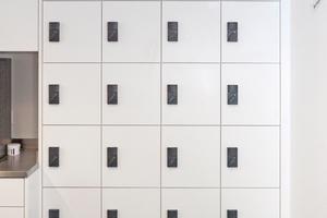 Elektronisches Spindschloss für die Sicherung von Schrankfächern