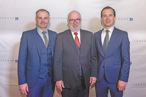 v.l.n.r.: Jörg Hossenfelder, Thomas Lünendonk und Jonas Lünendonk