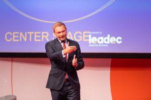 """Der Bundesvorsitzender der FDP lobte nach seinem Vortrag """"die Mischung aus Kongress, Messe, Networking, Impuls – ich finde das eine tolle Innovation."""""""