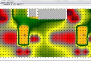 Isolinien- oder Isoflächengrafiken machen die Ergebnisse der Akustikberechnung wie Nachhallzeit oder Schalldruckpegel besser ablesbar