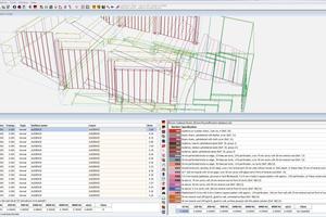 Vor der Berechnung erhält das importierte oder mit einem internen 3D-Editor modellierte Raum- oder Gebäudemodell alle akustisch relevanten Materialeigenschaften