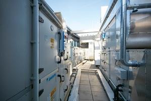 Für die Belüftung des Hotels sorgen acht Lüftungsgeräte<br />