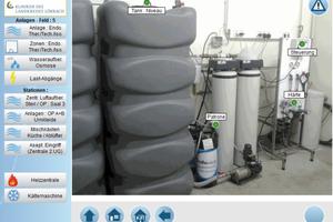 Web-Visualisierung Wasseraufbereitung Osmose