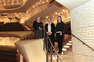 Sorgen gemeinsam für reibungslose Abläufe:<br />Anne-Kathrin Wudtke, Gerlinde Schüle und Alla Giannaki (v. l.)