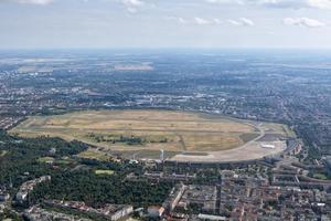 Luftaufnahme des Flughafen Tempelhof