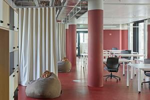Experimentierfläche zur gemeinschaftlichen Nutzung durch die Konzernunternehmen im Gebäude