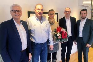 V.l.n.r.: Ulrich Geiger (Geiger Facility Management), Bernhard Lengeling (Lengeling Service), Eva-Maria Lengeling (Lengeling Service), Thomas Braun (Geiger Facility Management), Alexander Geiger (Geiger Facility Management)