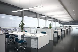 80 % aller Informationen verarbeitet der Mensch visuell, daher ist eine gute Beleuchtung im Büro so wichtig