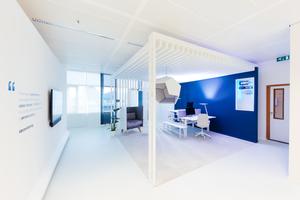 Station 2: Office: Diese Station widmet sich in vielen Details der Gestaltung des Büros von morgen