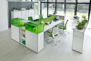 Arbeitsplätze im Großraumbüro müssen sich an die aktuelle Situation anpassen lassen