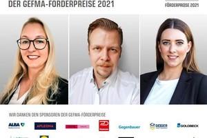 Die diesjährigen GEFMA-Förderpreisträger Fachwirte (v.l.n.r.) Alexa Pfingst, Heiko Merker und Nadja Raabe