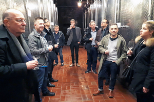 Nach getaner Arbeit Weinverkostung 2019 in Deidesheim