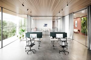 Heute Seminartisch, morgen Arbeitsplatz – mobile, klappbare Tische, die sich bei Bedarf mit werkzeugfrei addierbaren Sicht- und Akustikblenden ausstatten lassen, bieten maximale Flexibilität und Zukunftssicherheit