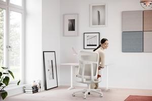 Weil zuhause der Bewegungsraum ausschließlich auf die Bedienung von Tastatur und Mouse reduziert ist, spielt hier das gesunde, dynamische Sitzen eine noch wichtigere Rolle als im Büro