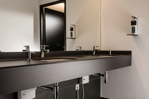 """<irspacing style=""""letter-spacing: 0em;"""">Die Durchlauferhitzer """"MTD 350"""" sorgen für Warmwasserkomfort und Effizienz an allen Handwaschbecken im Gebäude. Bei der Nutzung besteht nur ein kleiner Warmwasserbedarf, der mit 3,5 kW Leistung ausreichend gedeckt wird </irspacing>"""