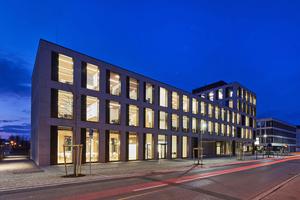 Das Bürogebäude der Hinterschwepfinger Projekt GmbH im Herzen des oberbayerischen Burghausen