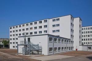 200 Betten auf insgesamt fünf Stationen finden Platz in dem 6200 m² Interimskrankenhaus<br />