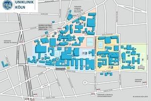 Lageplan der Uniklinik Köln<br />