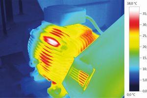 Temperaturverteilung in einem Motor