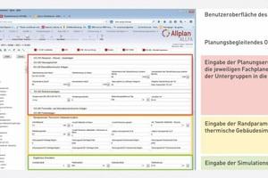 Beispiel Eingabe in Allplan Allfa Web, Neubau Klinikum Frankfurt Höchst