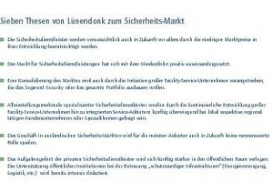Sieben Thesen von Lünendonk zum Sicherheits-Markt<br />