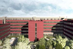 Der nach zwei Seiten kammartig angeordnete vier bis sechsgeschossigen Gebäudekomplex wird sich aus 391 Raummodulen zusammensetzen, die nach exakter Vorplanung im ALHO Werk in Morsbach gefertigt werden.<br />