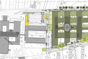 Lageplan des Neubaus des Klinikum Frankfurt Höchst