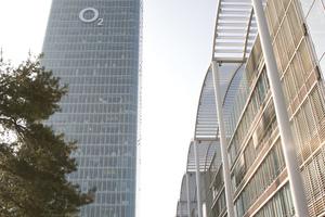 Die Telefónica-Deutschland-Zentrale, O<sub>2</sub>-Tower, in München