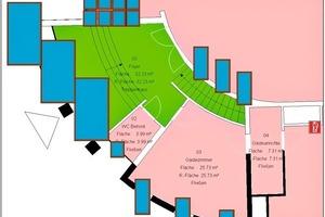 CAD-Plan mit maßstäblicher Darstellung der Fenster und Glasreinigungsflächen<br />