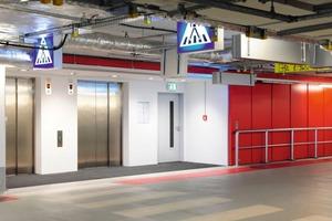 In weniger repräsentativen Gebäudeteilen wie den Treppenhäusern oder der Tiefgarage wurden die Feuerschutzabschlüsse ohne spezielle Verkleidung installiert<br />