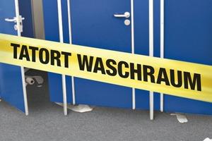Immer wieder werden Waschräume zu regelrechten Tatorten – für Verschmutzungen, Diebstähle und Vandalismus<br />