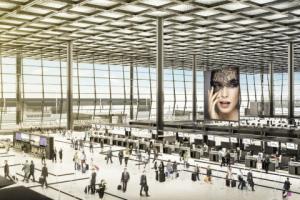 Eine neue Dimension: Visualisierung der&nbsp; Abfertigungshalle des Terminal 3 (Quelle Fraport AG)<br />