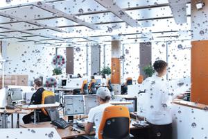 Viren bleiben bei trockener Luft im Büro stundenlang infektionsfähig