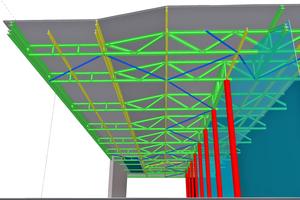 Am BIM-Modell können Details konstruktiv, statisch und energetisch optimiert werden: Dach-/Fassadendetail