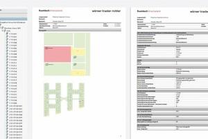 Integriertes Raumbuch, Ausgabe als PDF-Datei aus Allplan Allfa