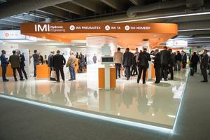 Blick auf den Stand von IMI Hydronic Engineering