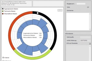Grafik 2: Einsatz von Software-Tools (hier: epiqr5): Jedes Objekt erhält auch ein visuelles Profil, das einfache Vergleiche ermöglicht
