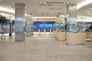 """<div class=""""4.6 Bildunterschrift""""></div>Der Immobilienbestand des BR umfasst über 230 000 m² in acht Liegenschaften und besteht aus insgesamt 8800 Räumen. Hier der Blick in das Foyer des Funkhauses in München"""